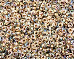 TOHO Rainbow Crystal (with Gold Lining) Magatama 3mm Seed Bead