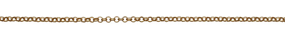 Satin Hamilton Gold (plated) Rollo Chain