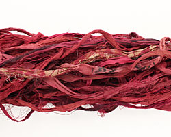 Ruby 100% Silk Sari Ribbon