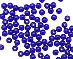 Czech Glass Cobalt Round 4mm