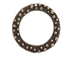 Saki White Bronze Bumpy Ring Pendant 32mm