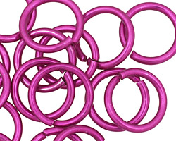 Violet Anodized Aluminum Jump Ring 18mm, 12 gauge (13.1mm inside diameter)