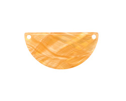 Zola Elements Honeycomb Acetate Half Circle Link 30x15mm