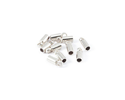 Silver (plated) Cord End w/ Loop 3mm