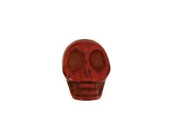 Red Magnesite Skull 17-18x14mm