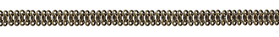Antique Brass (plated) Chain Maille Chain 7x11mm