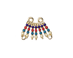 Gold (plated) Carnival Fringe Focal Component 23x18mm