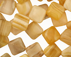 Yellow Botswana Agate Diamond 13mm