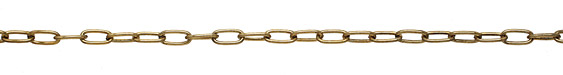 Antique Gold (plated) Long Oval Cable Chain