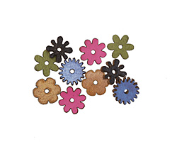 Lillypilly LBC Leather Mini Assorted Flowers 12mm