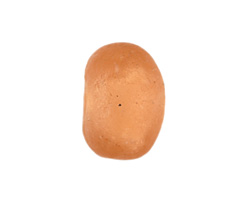African Recycled Glass Apricot Tumbled Rondelle 12-17x19-23mm