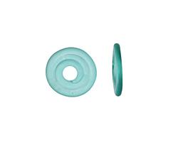 A Beaded Gift Light Teal Glass Mini Disc 12-14mm