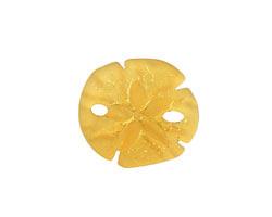 Desert Gold Recycled Glass Sand Dollar 20mm