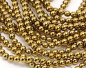 Metallic Gold Hematite (plated) Round 6mm