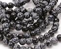 Snowflake Obsidian Round 10.5-11mm