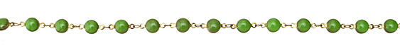 Zola Elements Vintage Green Coin Link Brass Chain