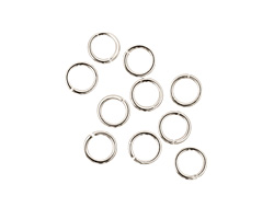Silver (plated) Round Jump Ring 6mm, 18 gauge