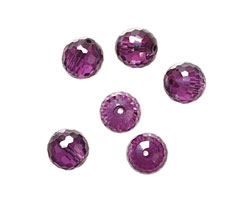Violet Faceted Round 10mm