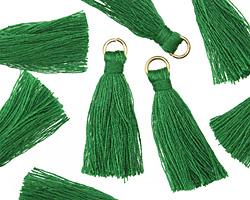 Kelly Green w/ Jump Ring Thread Tassel 30mm