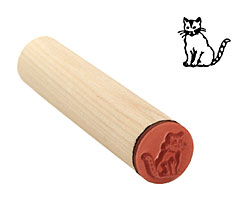 Cat Mini Rubber Stamp 14mm