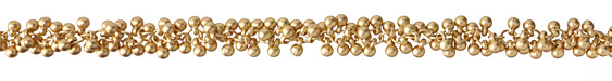 Satin Hamilton Gold (Plated) Beaded Drop Chain