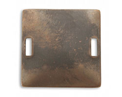Vintaj Natural Brass Square Blank Connector 32mm