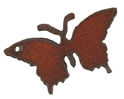 The Lipstick Ranch Rusted Iron Butterfly 25x44mm