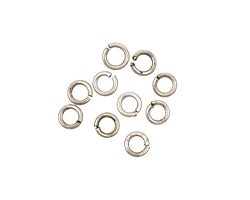 Antique Silver (plated) Round Jump Ring 4mm, 18 gauge