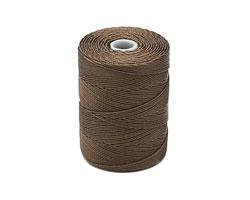 C-Lon Sepia Fine Weight (.4mm) Bead Cord