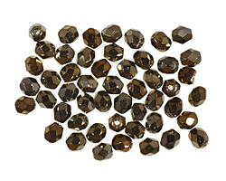 Czech Fire Polished Glass Iris Brown Round 4mm