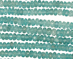 Apatite Faceted Rondelle 4.5-5mm