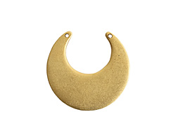 Nunn Design Antique Gold (plated) Flat Eclipse Tag 31x31mm