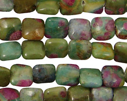 Fuchsite Ruby Puff Square 8mm