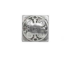 Antique Silver (plated) Chinese Knot 10mm Flat Cord Slide 18mm