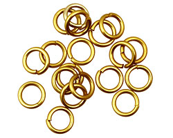 Yellow Anodized Aluminum Jump Ring 7mm, 18 gauge (5mm inside diameter)
