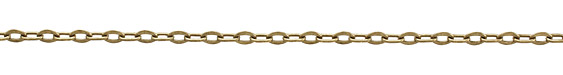 Antique Brass (plated) Every Other Flat Oval Link Chain