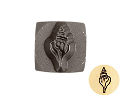 Conch Shell Metal Stamp 6mm