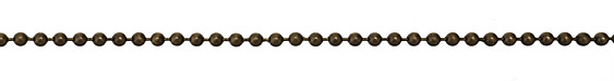 Antique Brass (plated) Ball Chain