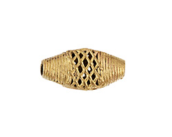African Brass Lattice Horse Eye 30-35x16-18mm