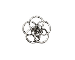 Zola Elements Antique Silver (plated) Open Hibiscus 20mm