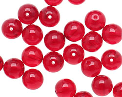 Czech Glass Ruby Round 8mm