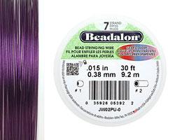 "Beadalon Purple .015"" 7 Strand Wire 30ft."