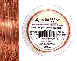 Artistic Wire Bare Copper 30 gauge, 50 yards