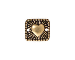 TierraCast Antique Gold (plated) Radiant Heart Link 16x14mm