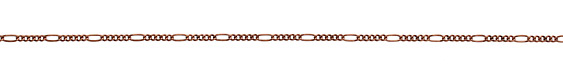 Antique Copper (plated) Curb & Oval Chain