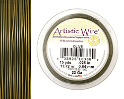 Artistic Wire Olive 22 gauge, 15 yards