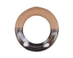 Dark Garden Half-Glazed Porcelain Ring Focal 47-50mm