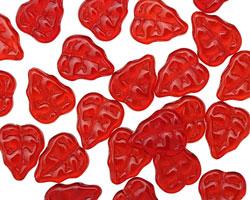 Czech Glass Siam Ruby Leaves 11x9mm