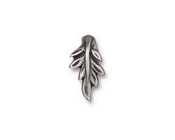 TierraCast Antique Pewter (plated) Botanical Pinch Bail 11x16mm