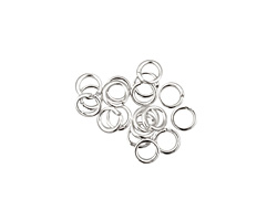 Silver (plated) Round Jump Ring 4mm, 21 gauge